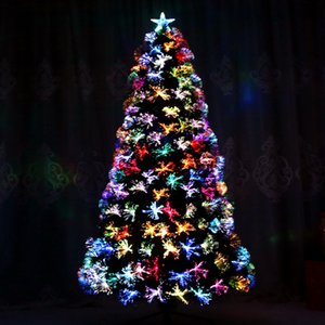 Wholesale Christmas Decorative Ornaments m Christmas Tree Package Colorful Fiber Tree LED Light Encryption Luxury