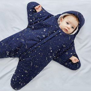 Wholesale Starfish Baby Sleeping Bag Colors Lovely Cotton Split Leg Sleeping Bag Embrace Quilt Baby Swaddle Blanket B0181
