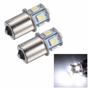 10X 1156 BA15S 1157 BAY15D P21 5W 8SMD 5050 Car Led Lights Brake Tail Lamps 8SMD Auto Rear Reverse Bulbs DC 12V