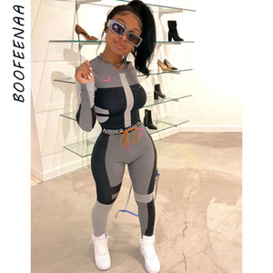 BOOFEENAA Fall Winter Sexy Tracksuit Women Two Piece Outfits Sports Fitness High Waist Leggings Matching Sets Sweatsuit C87-AD60