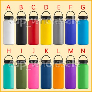 Wholesale 32oz oz Stainless Steel Outdoor Sports Water Bottle Flask Vacuum Insulated Wide Mouth Cups with Flex Cap with Logo Wine Beer Glasses