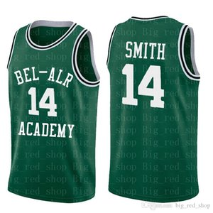 Wholesale Mens WILL SMITH BEL AIR Academy Jersey CARLTON BANKS Stitched Basketball Jerseys Yellow High Quality