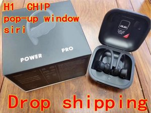Wholesale 2019 new TWS H1 CHIP Power pro Earbuds wireless Bluetooth earphone pop up SIRI headphones headphone earphones charging BOX