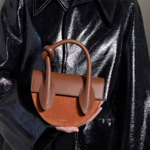 Wholesale Cute PU Leather Saddle Bags Women s Handbag Casual Semicircle Shoulder Crossbody Bags for Women Ladies Designer Purses Handbags