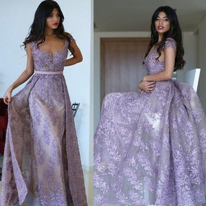 Wholesale dresses fashion elie saab for sale - Group buy Elie Saab Mermaid Evening Dresses Lavender Lace Appliqued Beaded Prom Dress Custom Made Sheath Formal Special Occasion Dress