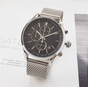 Wholesale High quality men BOSS wristwatch mm steel Mesh Watches Men s quartz waterproof watch mens designer watches Luxury Mens Watches orologio