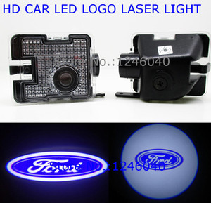 Wholesale LED Under SIDE Mirror Logo Welcome Light Ghost Shadow Projector Lamp For FORD Kuga S MAX C MAX FOCUS Escape Mondeo