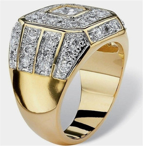 Wholesale mens ring diamonds for sale - Group buy Tide Diamonds Alloy Rings High Quality Womens Gold Rings Mens Hip Hop Rings Fashion Lovers Ring
