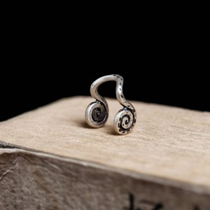 Wholesale Dark Dream sterling silver fashion spiral non perforated ear clip nose ring jewelry direct sale free of charge