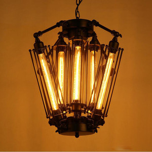 Wholesale lighting halogen resale online - New American Retro Pendant Lights Industrial lamp Loft Vintage Restaurant Bar Alcatraz Island Edison Lampe Hanging lighting
