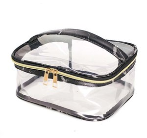 50pcs Marble PVC Transparent Large Capactiy Protable Storage Bag White and Black waterproof bag on Sale
