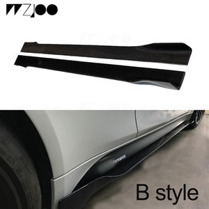 Wholesale door guard protector resale online - Universal Car Carbon Fiber Door Protector Chin Kit Guard Side Skirts Aprons for Audi BMW M2 M3 M4 X5 X6 F30 F32 F39 all cars
