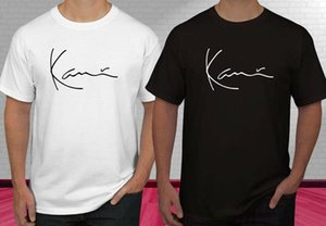 KARL KANI ICONIC SIGNATURE Black White Men's T-shirt S-2XL Funny free shipping Unisex Casual top