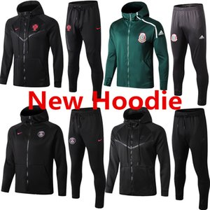 2019-20 PSG mens jacket hoodies Mexico winter coat tracksuits soccer jersey MBAPPE Paris sweater RONALDO windbreaker CAVANI CR7 hooded suits