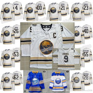 50th Buffalo Sabres Golden Third Royal Blue Jersey Victor Olofsson Jack Eichel Jeff Skinner Rasmus Ristolainen Rasmus Dahlin Colin Miller on Sale