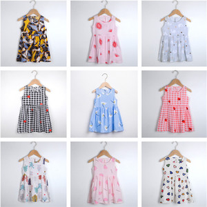 Wholesale ones pajamas for sale - Group buy Fashion Girls Dress Summer Sleeveless Dresses Sute Cartoon Pajamas Princess Designer One piece Skirt Lovely Beach Dress Clothing sStyle