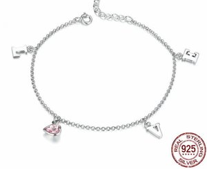 Wholesale PB1 Silver plated Charm Bracelet for Women Snake Chain & Murano Glass Beads Brand Bracelet Authentic Jewelry