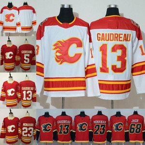 Mens 13 Johnny Gaudreau Jersey Calgary Flames 5 Mark Giordano 23 Sean Monahan 68 Jaromir Jagr 2019 Heritage Classic Hockey Jerseys Cheap