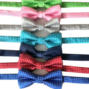 Wholesale weddings decorations ideas for sale - Group buy Children s Bow Tie Pet Dog Idea Bowknot Wave Point Collar Isignina Children Ties Child Jewelry Yarn Dyed Polyester py B2