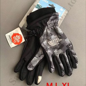 The North NF Brand Touch Screen Gloves Women Men Winter Sport Full Finger Glove Face Patchwork Fleece Polar Telefingers Glove Mittens C92307 on Sale
