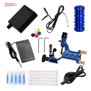 Wholesale Rotary Tattoo Motor Machines Gun Pro Power Kit Grip Needles Tattoo Supply Power Supply Kit Grip Needles Tattoo Supply