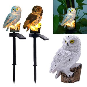 Wholesale LED Lawn Garden Light Owl Shaped Outdoor Decor Yard Stake Solar Powered Landscape Decorative Lighting Waterproof