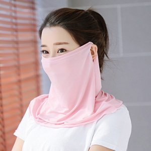 Wholesale Sunscreen Face Mask Women Summer Sun Mask Female Ice Silk Sunscreen Shawl New Riding Imitation UV Mask