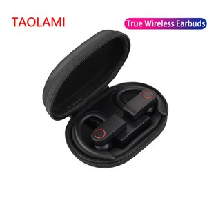 Wholesale TWS wireless Bluetooth earphones stereo headphone with charging box twin mini Bluetooth earbuds for iPhone IOS Android