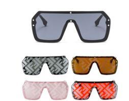 Letter Mirror Coating Sunglasses Men Women Fashion Shades UV400 Vintage Glasses 49031