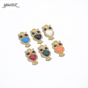 Wholesale YuenZ colour Enamel Charms for Jewelry Making Floating Metal Owl Cat Pendant DIY fashion necklace mm W49