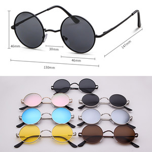 2019 Hot Sale Retro Round Metal Polarized Sunglasses Street Shooting Fashion Glasses For Men And Women Free Shipping