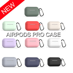 Wholesale Silicone Case for Apple Airpods Pro New Arrival Sleeve Pouch for Air pods Earphones Soft TPU Ultra Thin Protector Cover with Hook by DHL