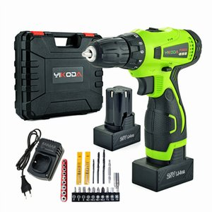 Wholesale 25V Cordless Drill Battery Electric Screwdriver Home DIY Room Decoration Rechargeable Drill Two Battery Plastic Case Plus Accessories