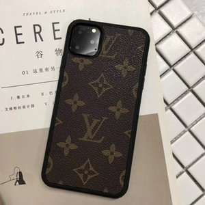 Wholesale Luxury Designer Phone Cases for iPhone Pro Max plus XS XR PU leather Classic Soft edge fashion Mobile phone protection cover