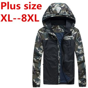 Wholesale 8xl XL XL spring new sportswear Men Fashion Thin Windbreaker jacket Zipper Coats Outwear men s clothing free delivery