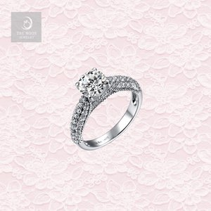Wholesale 925 Sterling Silver Rhodium Plated with UK Style Antique Filigree Wedfit Engagement Ring