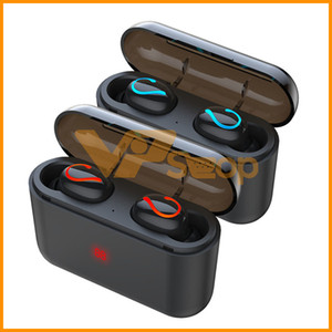 Wholesale HBQ Q32 TWS Bluetooth Earphone With Charging Box mAh Power Bank HBQ Q32 Wireless Headphones for Phone Stereo Sport Handsfree Earbuds