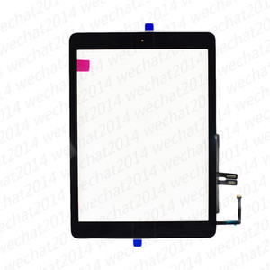 50PCS Touch Screen Glass Panel with Digitizer Home Buttons for iPad 6 6th 2018 A1893 A1954 free DHL