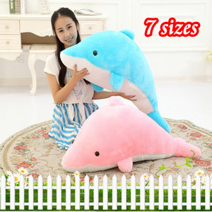 Wholesale Soft Stuffed Dolphins amp Plush Toys Fluffy Animals Cute Pillow Kids dolls Baby Birthday Gifts for Children DropShipping Available
