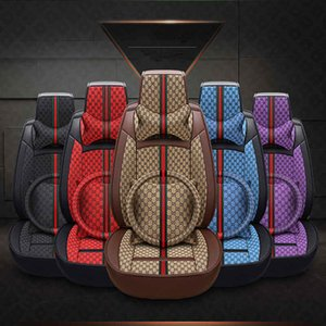 Wholesale 5 Colors Leather Car Mat Car Seat Cover Set Four Season All Clusive Cloth Art Car Interior Accessories HHA61