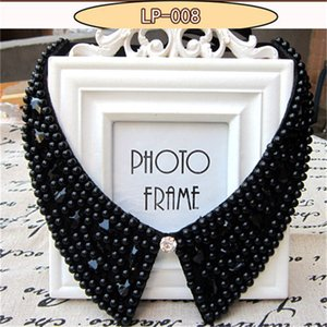 Wholesale 2017 newest pearl fake collar Necklace Classic White Crystal Pendant Necklaces Pendants Fashion Wedding Jewelry girl Gift