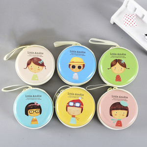 Wholesale small tin cans resale online - Tin Can Round Coin Purse Waterproof Zippered Headphones Case Small Pouch Box Storage Bag Mini Wallet Adult Kids Birthday Novelty Gift