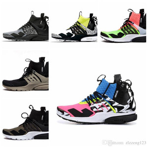 Wholesale 2018 New Arrival ACRONYM Lab Presto Mid Running Shoes For Men Women Racer Pink Yellow Grey Hot Lava Prestos Shoe Sport Trainers Sneakers