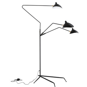 Modern Design Black White Floor Lamp Metal Mantis Arm Floor Light Standing Lamp Loft Industrial Bedroom Indoor Decor Table Lamps