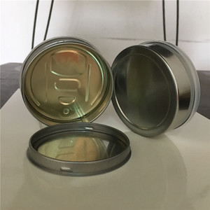 Wholesale Empty Dry Herb Flower Tin Cans Pre Sealed Sealing Lid Cover Pressed Cap Bottom Custom Label as Smartbud Smart BUD Cans Organic