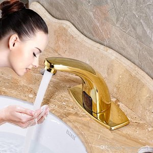 Wholesale Bathroom Sensor Faucet Hand Touchless Automatic Tap Hot and Cold Mixer Bathroom Sink Infrared Mixer Faucet
