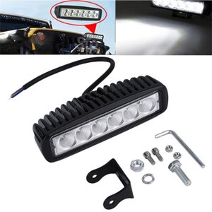 inch 18W LED Work Light Bar Lamp for Driving Truck Trailer Motorcycle SUV ATV OffRoad Car 12v 24v Flood Spot Free Shipping