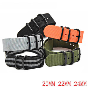 Nylon Canvas Strap Universal Watch Strap Three sizes 20 22 24MM Seven colours Five-ring watch strap