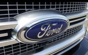"Ford Front Grille Tailgate Emblem, Oval 6""X2.4"", Dark Blue Decal Badge Nameplate for 07-10 Edge, 05-11 Escape, 06-10 Explorer, 05-11 Expedit"