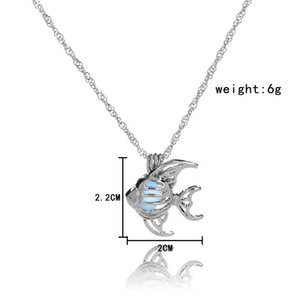 Creative Korean Version  Fashion Creative Night Light Fish Necklace Summer Beach Oceans Choker Accessories Women's